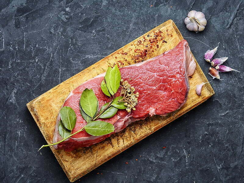 Catering butcher steak